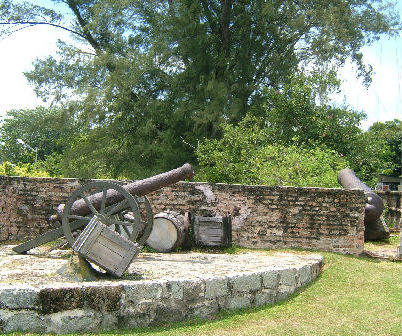 A cannon at Fort Cornwallis